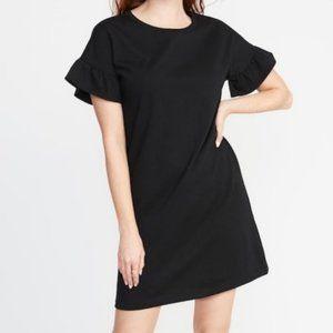 Old Navy Ruffle Sleeve Sweatshirt Dress Gray L